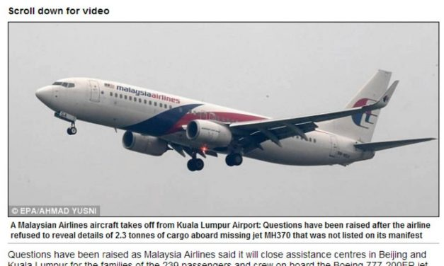 Flight 370: Cargo Mystery