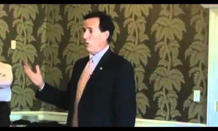 """Santorum says killing Americans good,<br>but killing Iranians is wonderful"""