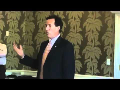 """Santorum says killing Americans good, but killing Iranians is wonderful"""