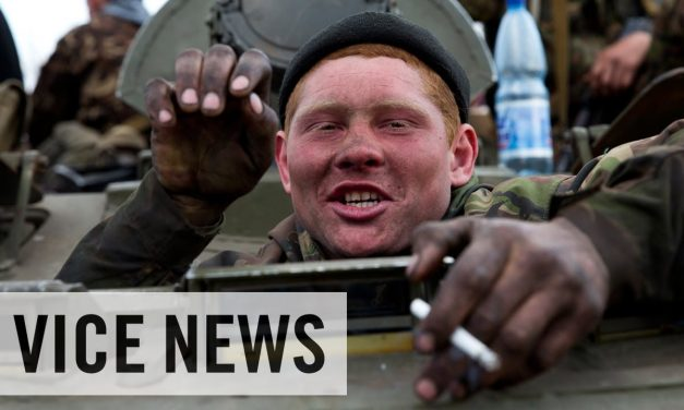 Citizens disarming troops in the Ukraine