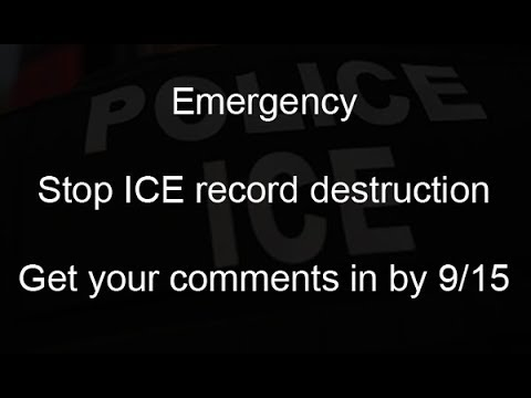 Stop the record destruction at ICE