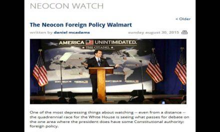 Where brain dead politicians shop for foreign policy ideas