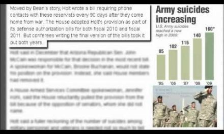 More soldiers lost to suicide than battle