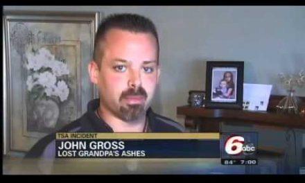 TSA spills Grandpa's ashes and laughs
