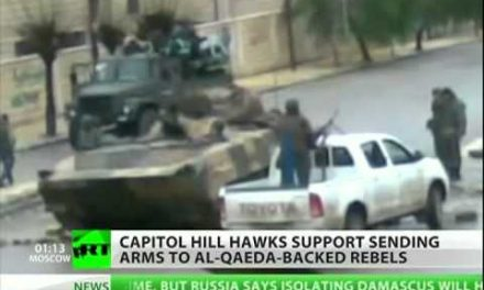 Al-Qaeda and Washington war hawks call for arming Syrian rebels