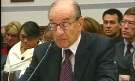 "Alan Greenspan: ""I'm shocked"""