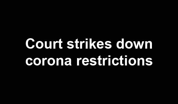 Federal judge calls lockdowns illegal