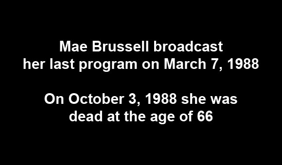 The death of Mae Brussell